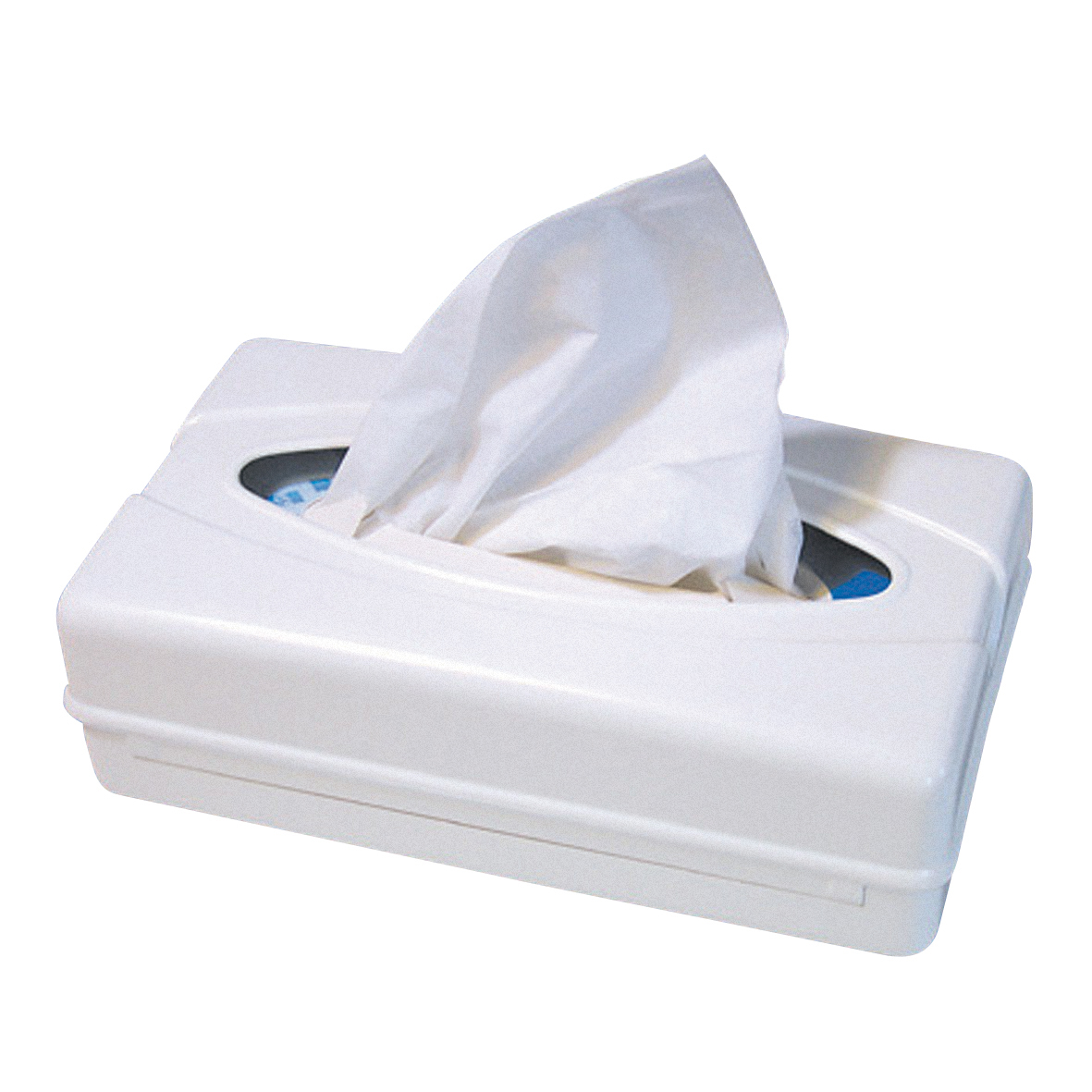 with facial tissue